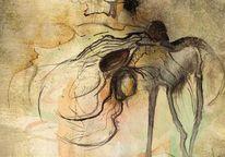 Tuschezeichnung, Prozess, Aquarellmalerei, Arm