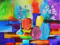 Blumen, Stillleben, Abstrakt, Malerei