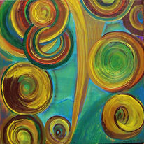 Fantasie, Bewegung, Braun, Gelb