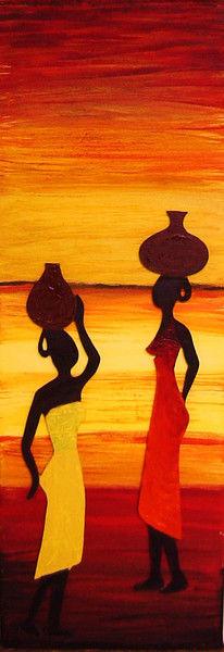 Frau, Afrika, Wärme, Landschaft