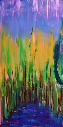 Frühling, Wald, Gelb, Wasser
