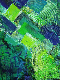 Blau, Drehung, Dynamik, Grün