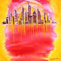 Abstrakt, Sonne, Gelb, Rot
