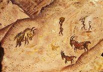 Menchen, Braun, Höhle, Jagd