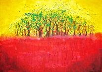 Horizont, Baum, Rot, Wald