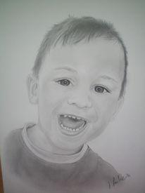 Gesicht, Portrait, Bleistiftzeichnung, Junge
