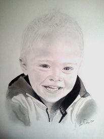 Portrait, Bleistiftzeichnung, Junge, Zeichnungen