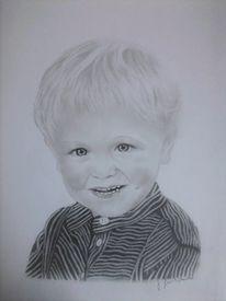 Kleinkind, Portrait, Bleistiftzeichnung, Zeichnungen