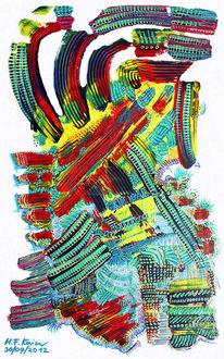 Acrylmalerei, Reproduktion, Repro, Triptychon