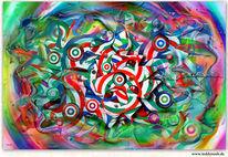 Rund, Abstrakt, Dynamik, Farben