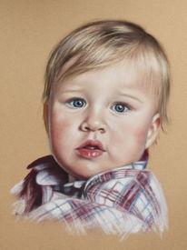 Pastellmalerei, Kind, Kreide, Portrait
