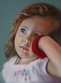Portrait, Pastellmalerei, Kinderportrait, Malerei