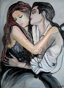 Malerei, Menschen, Mädchen, Vampir