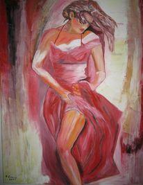 Tanz, Malerei, Menschen, Rot