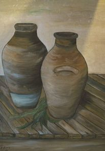 Ölkrüge, Malerei, Stillleben