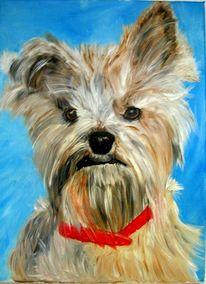 Hund, Malerei, Figural