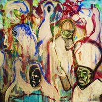 Malerei, Abstrakt, Christ