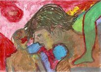 Kopf, Mann, Körper, Freie malerei
