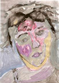 Portrait, Malerei, Haut, Frau