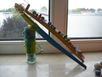 Glasholzobjekt, Perlen, Experimentelle kunst, Plastik