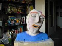 Mann, Bemalte plastik, Kopf, Farbiger kopf