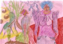 Wasserfarben, Buntstifte, Freie malerei, Malerei