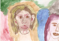 Malerei, Fantasie, Figurativ, Paar