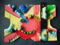 Assemblage, Perlen, Experimentelle kunst, Plastik