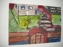 Rheingaustraße, Ölmalerei, Freie malerei, Malerei