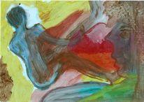 Ölmalerei, Figurative malerei, Rücken, Freie malerei