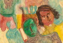 Freie malerei, Fantasieporträts, Ölmalerei, Malerei
