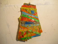 Relief, Materialarbeit, Zerschnittener pappkarton, Experimentelle plastik
