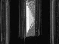 Abstrakt, Schwarz weiß, Tür, Digital