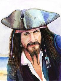 Pirat, Portrait, Seemann, Freibeuter