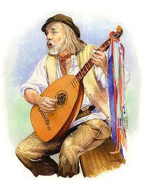 Sänger, Portrait, Mandoline, Volksmusik
