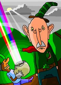 Diebstahl, Irland, Bewölkt, Regenbogen