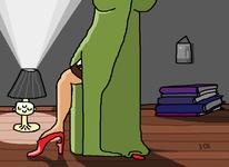 Galgen, Kleid, Schuhe, Licht