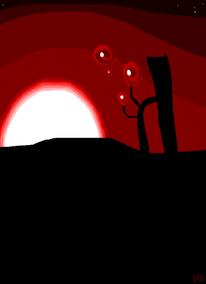 Sonne, Sonnenuntergang, Einsamkeit, Blase