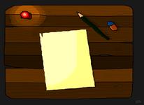 Radiergummi, Bleistiftzeichnung, Kerzen, Tisch