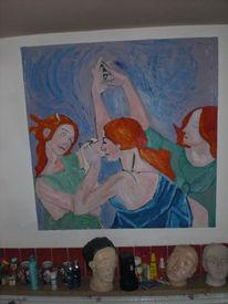 Schwestern, Botticelli, Tanz, Frau