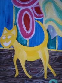 Glück, Katze, Cruz, Malerei