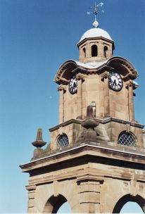 Sommer, Uhr, England, Turm