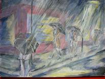 Regen, Malerei, Figural, It