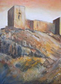 Calima, Acrylmalerei, Maurische burg, Malerei