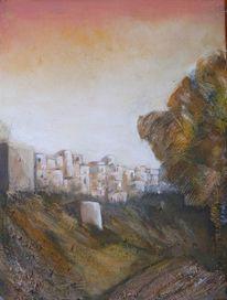 Alcala de guadaira, Sommerhitze, Acrylmalerei, Malerei
