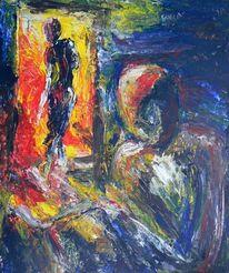 Acrylmalerei, Abstrakt, Beziehung, Malerei
