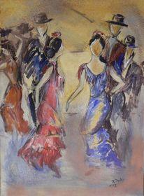 Tanz, Sevillana, Lebensfreude, Andalusien