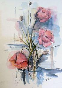 Mohnblumen, Malerei, Pflanzen, Wohnzimmer