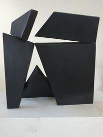 Abstrakt, 40x40x25, Architektur, Skulptur