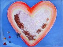 Geschenk, Liebeserklärung, Herz, Malerei